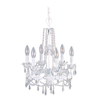 Athena 6 Light 15 inch Antique White Chandelier Ceiling Light