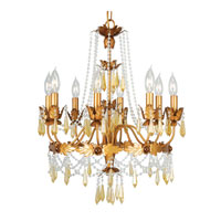 Livex Athena 8 Light Chandelier in Autumn Gold 8188-55 photo thumbnail