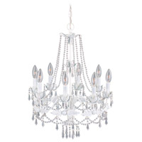 Livex Lighting Athena 8 Light Chandelier in Antique White 8188-60