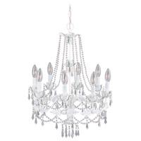 Livex 8188-60 Athena 8 Light 20 inch Antique White Chandelier Ceiling Light