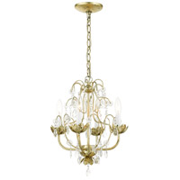Livex Lighting 8193-28 Acanthus 4 Light 14 inch Winter Gold Chandelier Ceiling Light