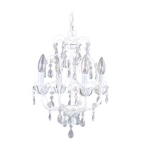Livex 8193-60 Athena 4 Light 14 inch Antique White Chandelier Ceiling Light