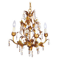 Livex Lighting Athena 4 Light Chandelier in Autumn Gold 8194-55 photo thumbnail
