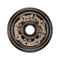 Livex Lighting Ceiling Medallion Accessory in Hand Rubbed Bronze with Antique Silver Accents 8200-40