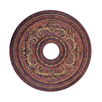 Livex 8200-63 Ceiling Medallion Verona Bronze with Aged Gold Leaf Accents Accessory photo thumbnail