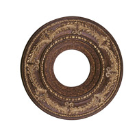 Livex 8204-64 Ceiling Medallion Palacial Bronze with Gilded Accents Accessory