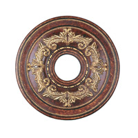 Livex Lighting Ceiling Medallion Accessory in Verona Bronze with Aged Gold Leaf Accents 8205-63
