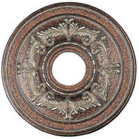 Livex Lighting Ceiling Medallion Accessory in Palacial Bronze with Gilded Accents 8205-64