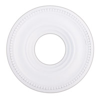 Livex 82072-03 Wingate White Ceiling Medallion photo thumbnail
