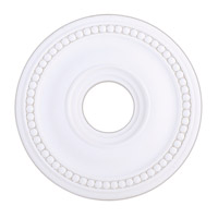 Livex 82073-03 Wingate White Ceiling Medallion