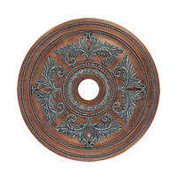 Ceiling Medallion Crackled Bronze with Vintage Stone Accents Accessory