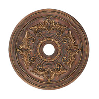Ceiling Medallion Crackled Greek Bronze Accessory