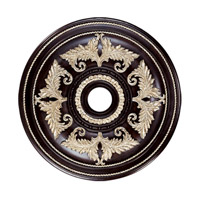 Ceiling Medallion Hand Rubbed Bronze with Antique Silver Accents Accessory