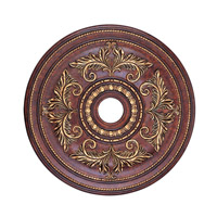 Livex 8210-63 Ceiling Medallion Verona Bronze with Aged Gold Leaf Accents Accessory