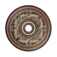 Livex 8210-64 Ceiling Medallion Palacial Bronze with Gilded Accents Accessory
