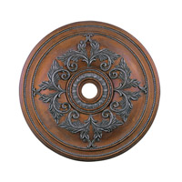 Livex Lighting Ceiling Medallion Accessory in Crackled Bronze with Vintage Stone Accents 8211-17