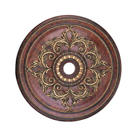 Livex Lighting Ceiling Medallion Accessory in Verona Bronze with Aged Gold Leaf Accents 8211-63