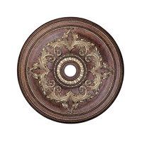 Livex 8211-64 Ceiling Medallion Palacial Bronze with Gilded Accents Accessory