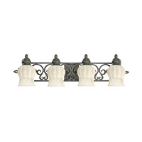 Livex Lighting Royal 4 Light Bath Light in Distressed Iron 8214-54 photo thumbnail