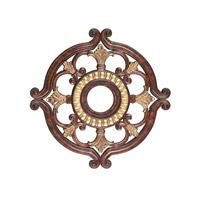 Livex Lighting Ceiling Medallion Accessory in Verona Bronze with Aged Gold Leaf Accents 8216-63