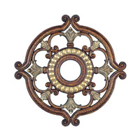 Livex 8216-64 Ceiling Medallion Palacial Bronze with Gilded Accents Accessory