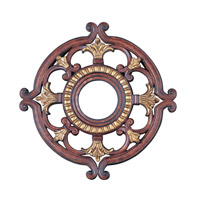 Livex Lighting Ceiling Medallion Accessory in Verona Bronze with Aged Gold Leaf Accents 8218-63