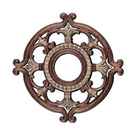 Livex Lighting Ceiling Medallion Accessory in Palacial Bronze with Gilded Accents 8218-64