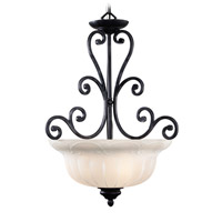 Livex Lighting Royal 3 Light Pendant in Distressed Iron 8224-54