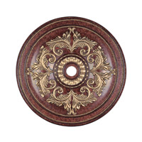 Livex Lighting Ceiling Medallion Accessory in Verona Bronze with Aged Gold Leaf Accents 8228-63