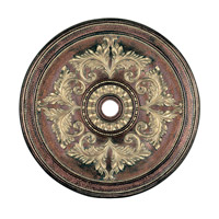 Livex 8228-64 Ceiling Medallion Palacial Bronze with Gilded Accents Accessory