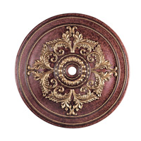 Livex Lighting Ceiling Medallion Accessory in Verona Bronze with Aged Gold Leaf Accents 8229-63