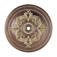 Livex 8229-64 Ceiling Medallion Palacial Bronze with Gilded Accents Accessory