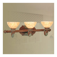 Livex Lighting Salerno 3 Light Bath Light in Crackled Bronze with Vintage Stone Accents 8263-17