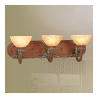 Livex Lighting Salerno 3 Light Bath Light in Crackled Bronze with Vintage Stone Accents 8266-17