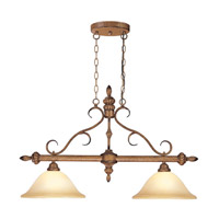 Livex Lighting Bistro 2 Light Island Light in Venetian Patina 8272-57