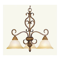 Livex Lighting Bistro 3 Light Chandelier in Venetian Patina 8273-57