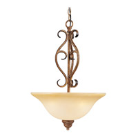 Livex Lighting Bistro 3 Light Inverted Pendant in Venetian Patina 8274-57
