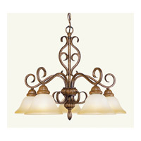 Livex Lighting Bistro 5 Light Chandelier in Venetian Patina 8275-57