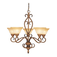 Livex Lighting Bistro 5 Light Chandelier in Venetian Patina 8276-57