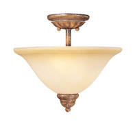 Livex Lighting Bistro 2 Light Semi-Flush Mount in Venetian Patina 8278-57