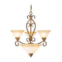 Livex Lighting Bistro 3 Light Chandelier in Venetian Patina 8285-57 photo thumbnail