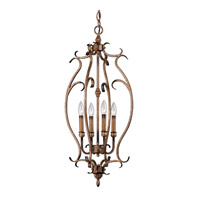 Livex Lighting Bistro 4 Light Foyer Pendant in Venetian Patina 8287-57