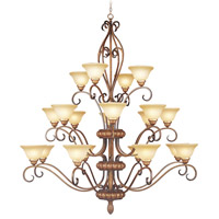 Livex Lighting Bistro 20 Light Chandelier in Venetian Patina 8289-57