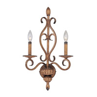 Livex Lighting Bistro 2 Light Wall Sconce in Venetian Patina 8292-57