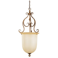 Livex 8296-57 Bistro 1 Light 17 inch Venetian Patina Foyer Pendant Ceiling Light