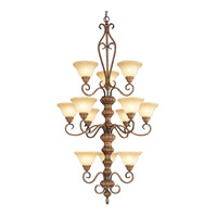 Livex Lighting Bistro 12 Light Chandelier in Venetian Patina 8298-57