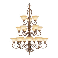 Livex Lighting Bistro 18 Light Chandelier in Venetian Patina 8299-57