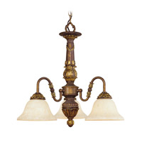 Livex Lighting Sovereign 3 Light Chandelier in Crackled Greek Bronze with Aged Gold Accents 8303-30