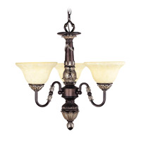 Livex Lighting Sovereign 3 Light Chandelier in Hand Rubbed Bronze with Antique Silver Accents 8303-40