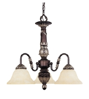 Livex Lighting Sovereign 3 Light Chandelier in Hand Rubbed Bronze with Antique Silver Accents 8303-40 alternative photo thumbnail
